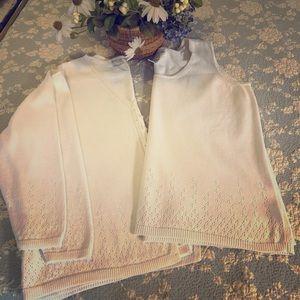 Jones NY white sweater set 2X